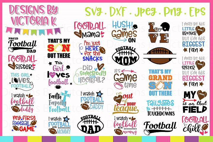 Football Bundle, American Football SVG Cut Files