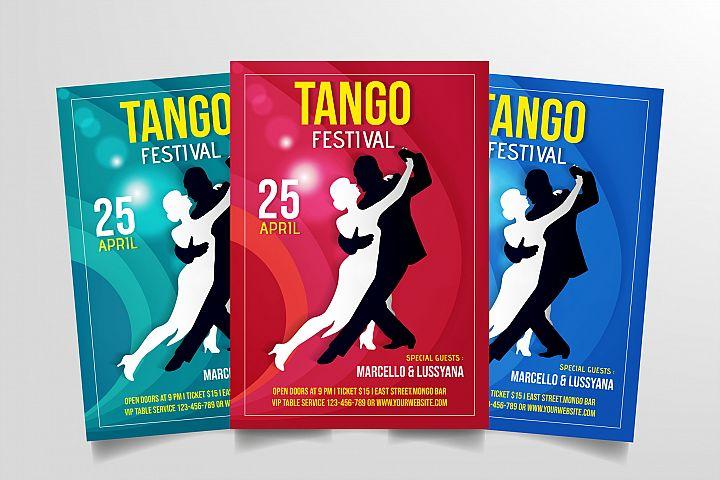 Tango Festival Flyer Template