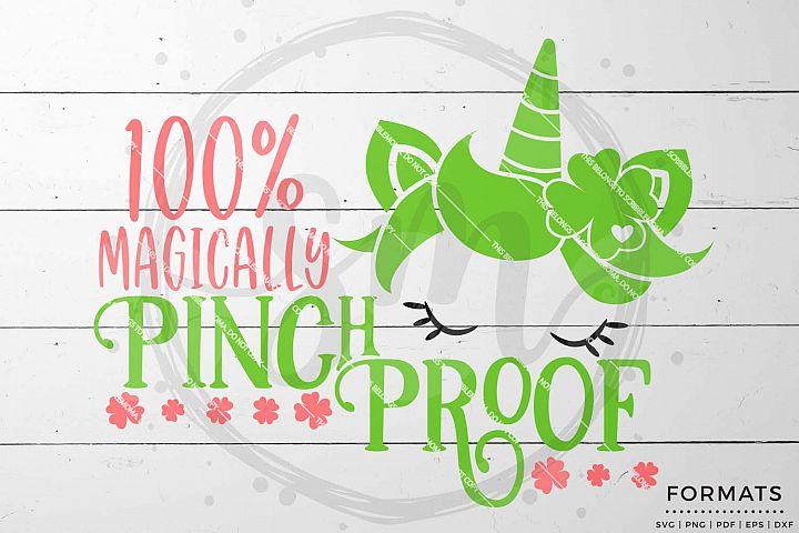 Magically Pinch Proof Unicorn St Patricks Day svg