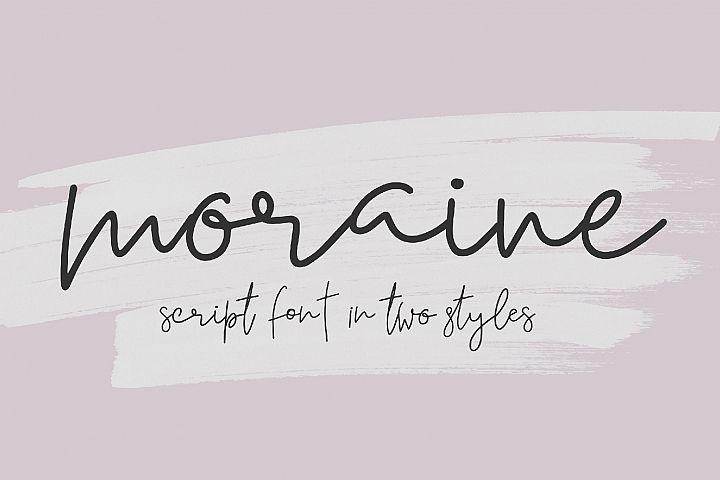 Moraine Script Font in Two Styles