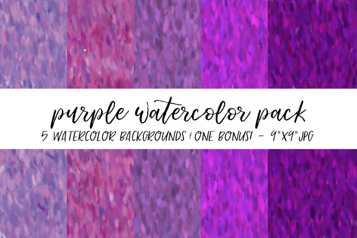 Purple Watercolor Backgrounds