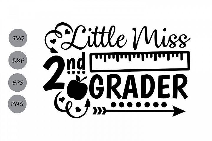 Little Miss 2nd grade svg, second grade svg, back to school.