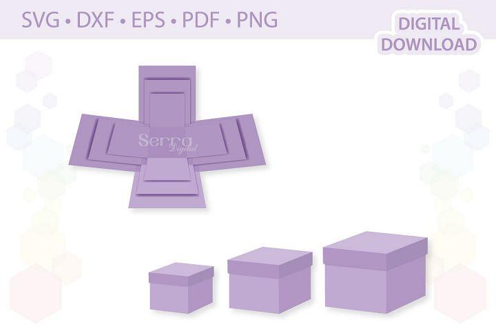 Square Explosion Boxes cut file