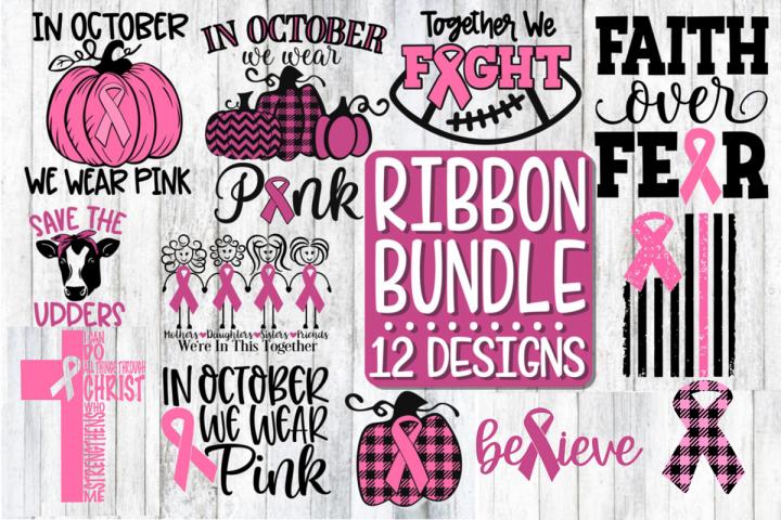 Ribbon Bundle - 12 Designs - SVG PNG DXF EPS