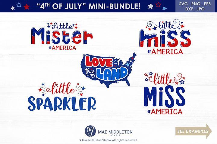 America 4th of July Mini Bundle 5 designs svg cut files