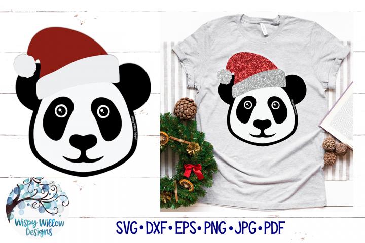 Santa Panda SVG | Christmas Panda SVG Cut File