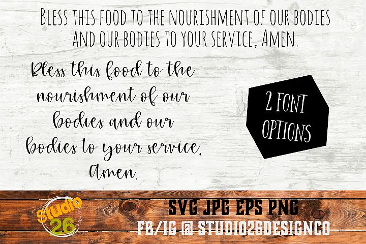 Bless this Food, Amen - SVG PNG EPS