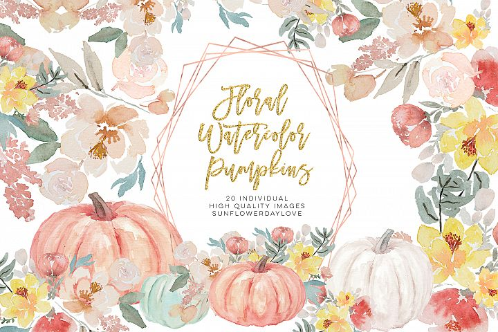 Autumn Watercolor Clipart, Fall Digital Download