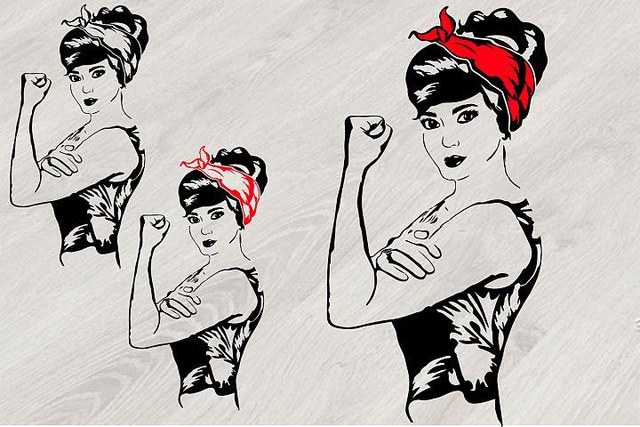 Girl Power Bandana, Rosie the Riveter babe youth women 797S