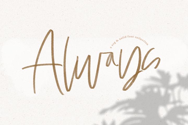 Always - A Handwritten SVG Script Font