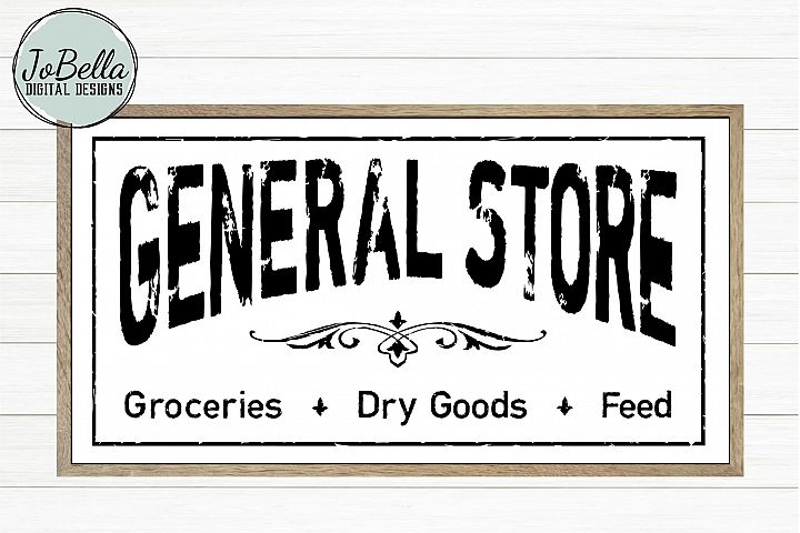 Distressed General Store SVG and Printable Farmhouse Design