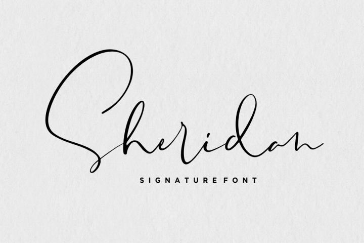Sheridan - Signature Font