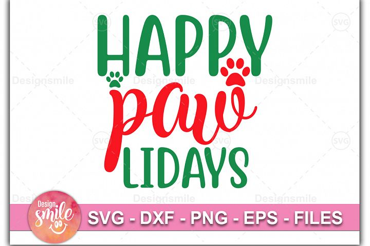 Happy PawLidays SVG DXF PNG EPS Cutting Files