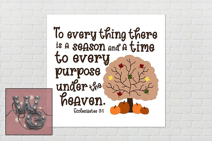 Every Thing Season Ecclesiastes 3 1 SVG DXF PNG JPG Comm