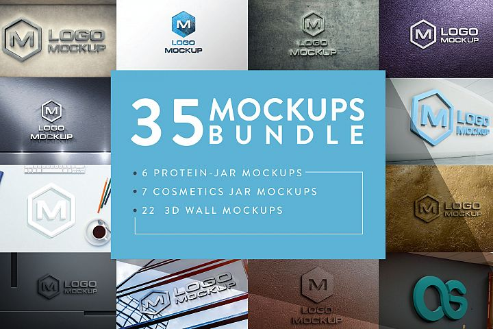 3D Logo Mock-up Bundle