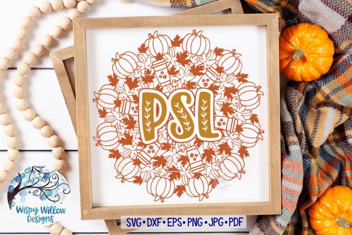 Pumpkin Spice Latte Mandala SVG | PSL Mandala | Fall Mandala