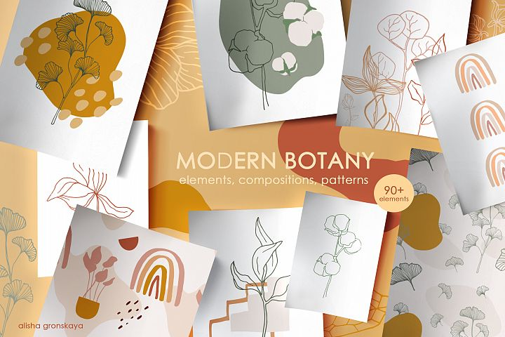 MODERN BOTANY. Line plants & shapes