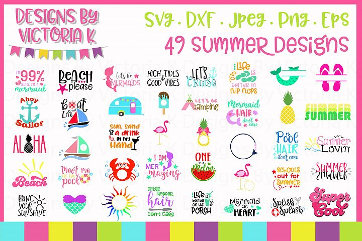Summer svg Bundle, 49 Summer cut files,SVG, DXF, PNG