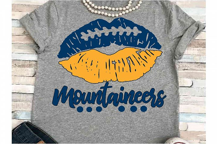 Football SVG DXF JPEG Silhouette Cameo Cricut Mountaineers