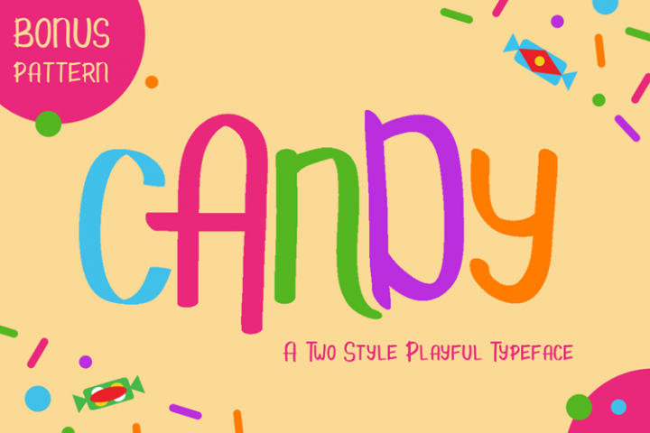 Candy - Kids Font & Pattern