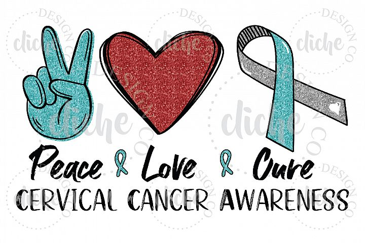 Cervical Cancer Awareness Sublimation Design