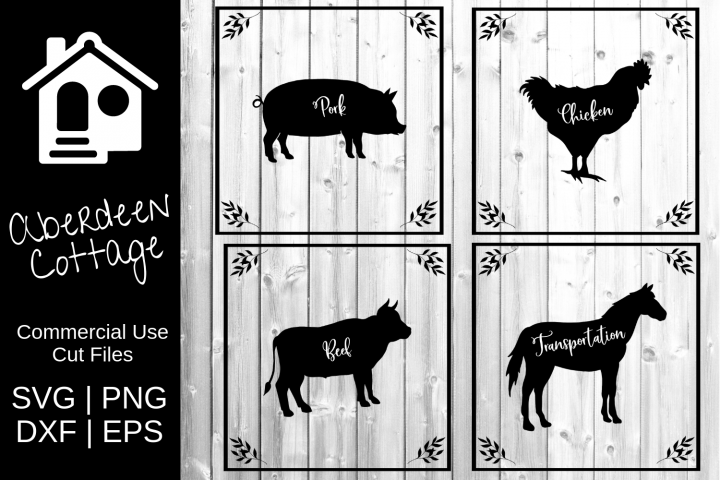Farm Life Mini Bundle - 4 Designs - SVG PNG DXF EPS