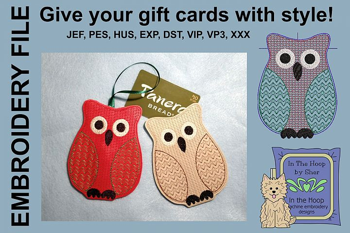 ITH Christmas Owl Gift Card Holder Ornament