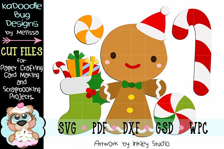 Christmas Gingerbread Man Cut File - SVG PDF DXF GSD WPC
