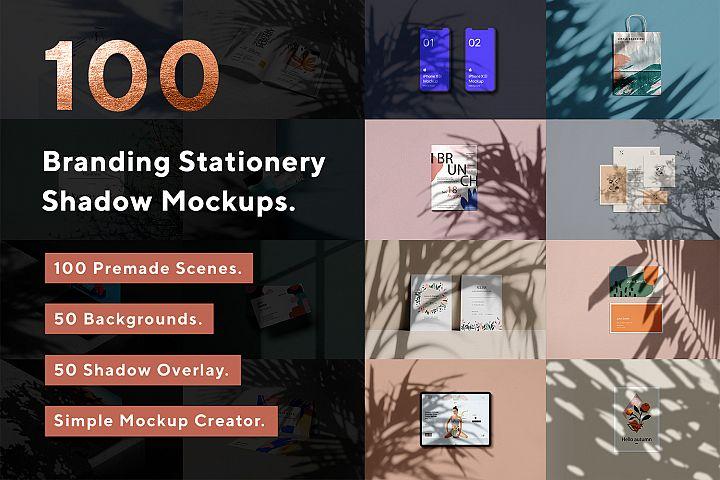 100 Branding Stationery Shadow Mockups - PSD