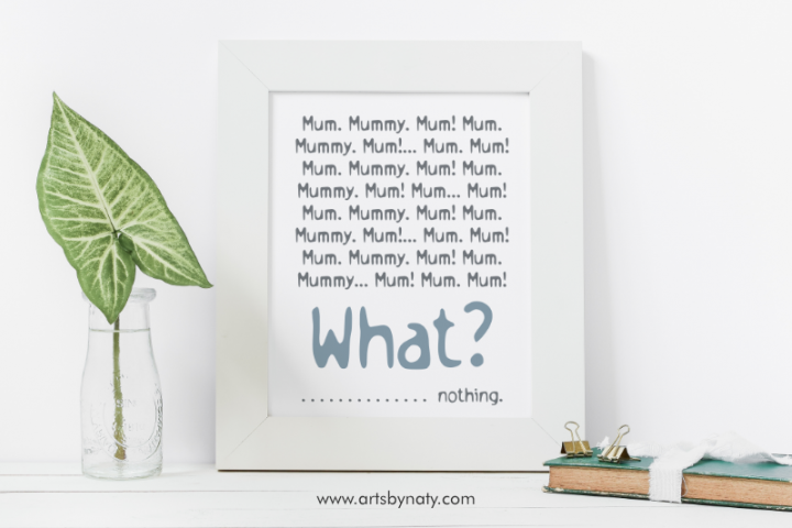 Unforgettable Mum Mummy Moments SVG Quote