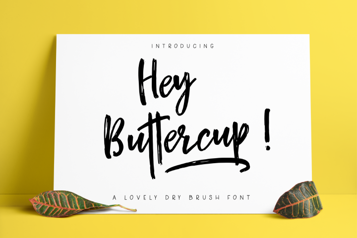 Hey Buttercup! Font  Extras