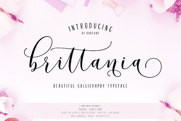 New! Brittania | 5 Font | 35% Off