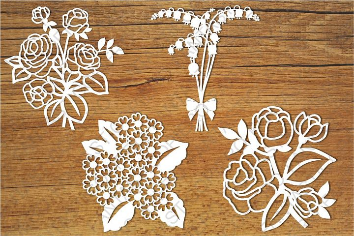 Flowers 2 SVG files for Silhouette Cameo and Cricut.