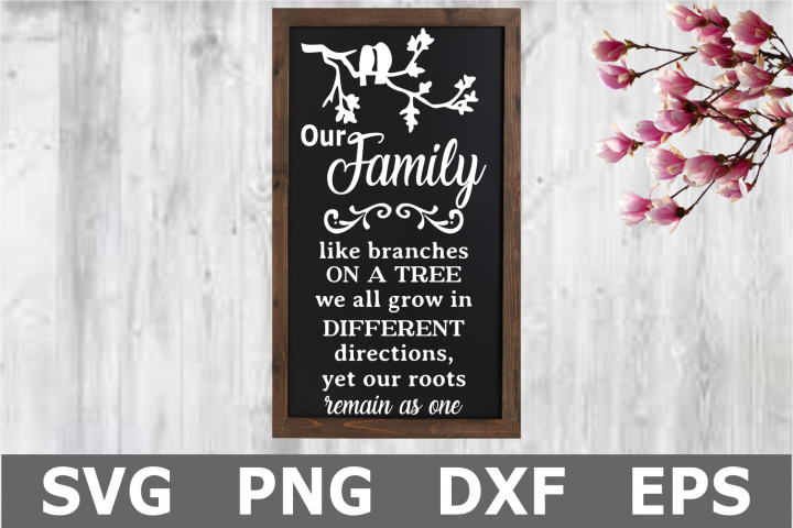 Family Branches - A Family SVG Cut File