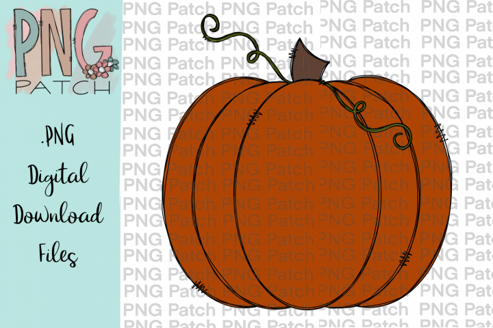 Pumpkin, Fall PNG File, Pumpkins Sublimation Design