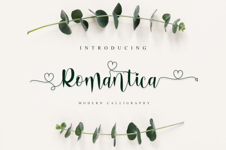 Romantica Font Signature