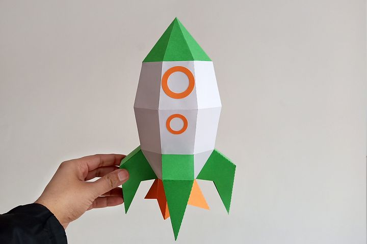 DIY Rocket - 3d papercraft