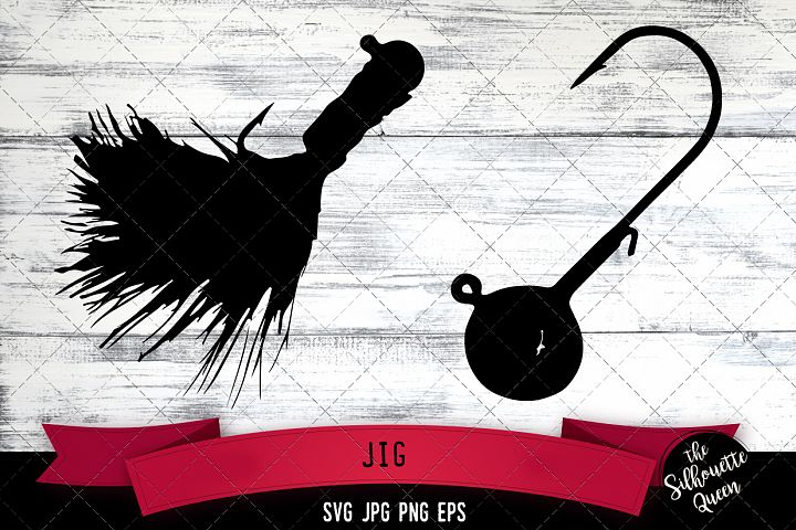 Jig Fishing Silhouette Vector