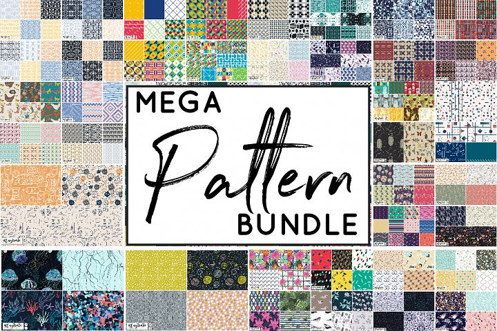 HUGE Seamless Vector Pattern Bundle - 240 Digital Papers