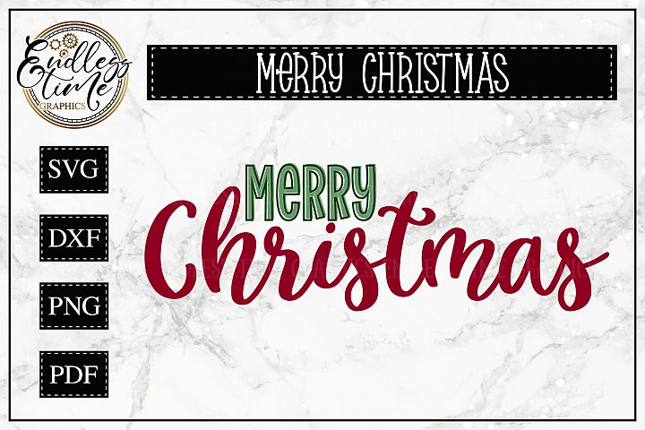 Merry Christmas SVG Cut File - Simple and Elegant