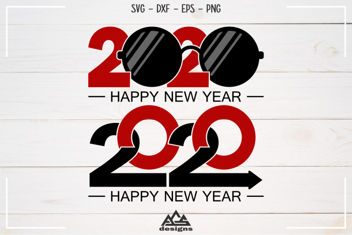 New Year 2020 Svg Design