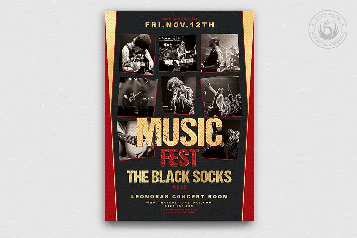 Music Festival Flyer Template V9