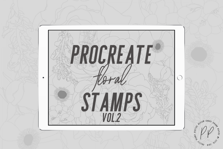 20 Procreate Floral Stamps Vol. 2