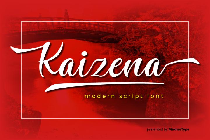 Kaizena - Modern Script Font