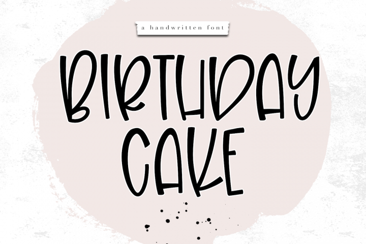 Birthday Cake - A Handwritten Font