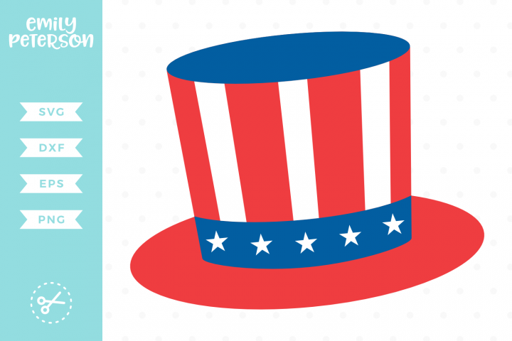 Uncle Sam Hat SVG DXF EPS PNG