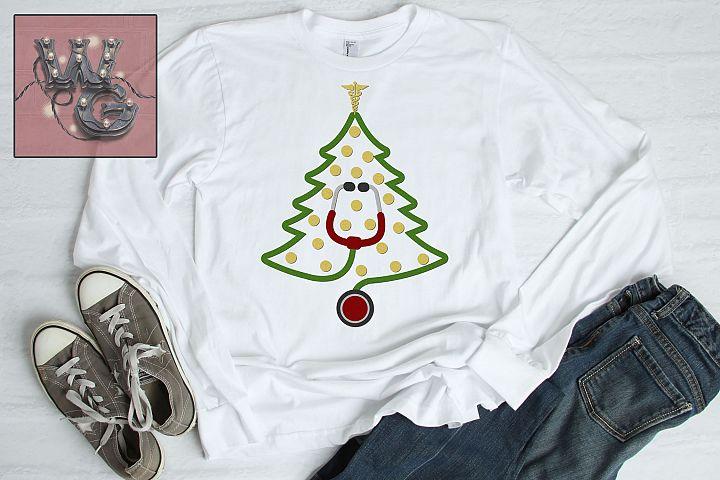 Medical Nurse Doctor Christmas Tree SVG DFX PNG EPS Comm