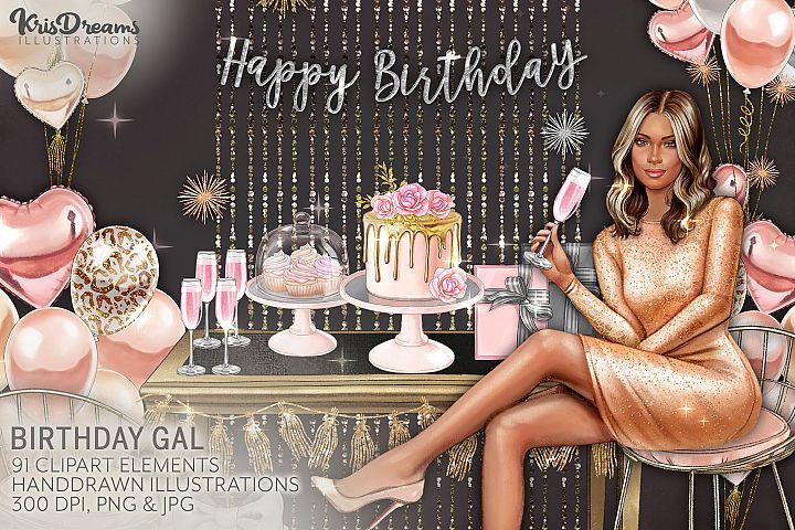 Birthday Handpainted Clipart