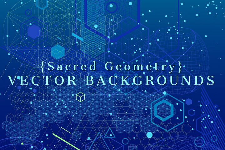{Sacred Geometry} Vector Backgrounds