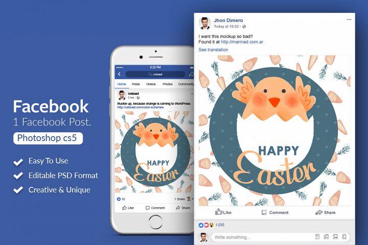 Happy Easter Facebook Post Banner